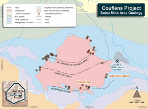 Couflens Project - Salau Mine Area Geology